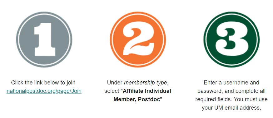 National Postdoctoral Association Affiliate Membership Sign-up Steps